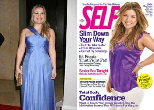 Kelly Clarkson, adelgazar digitalmente