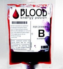 Blood energy drink, bebida para vampiros