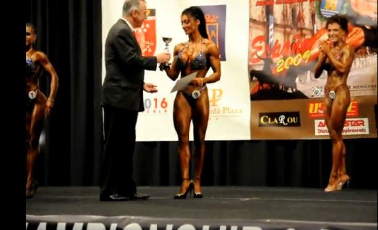 Raquel Hernández, subcampeona del mundo Body Fitness IFBB
