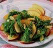 Receta saludable: ensalada de espinaca y manzana
