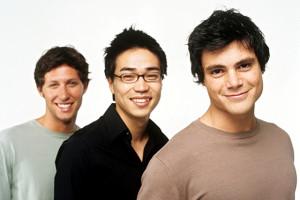 retrato de tres jovenes