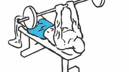 Tríceps más grandes: Press francés