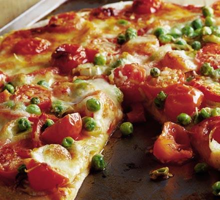 pizza baja en calorías