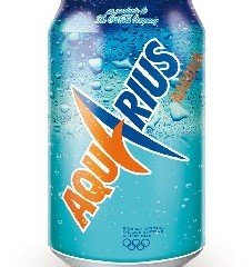 Lata 330 ml de Aquarius Naranja
