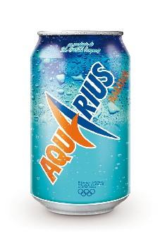 Lata 330 ml de Aquarius Naranja