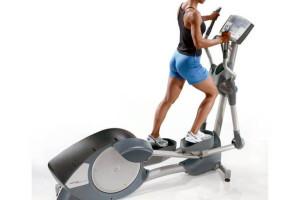 Aeróbicos y máquinas para estar en forma