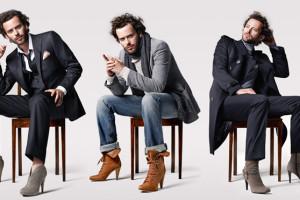 Modelo posando con zapatos de tacón