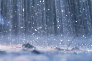El agua que cae del cielo