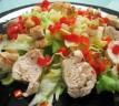 Ensalada templada de pollo con vinagreta
