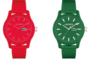 Relojes Lacoste rojo y verde