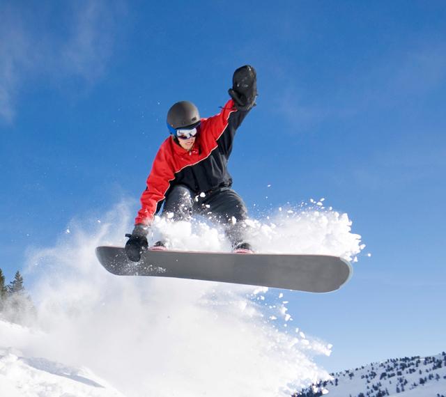 Snowboard en acción