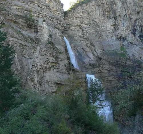 la vía ferrata de la Cascada De Sorrosal