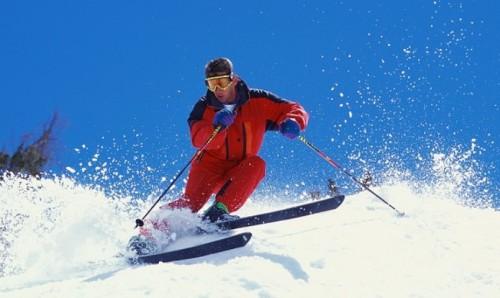entrenamiento esquí nieve