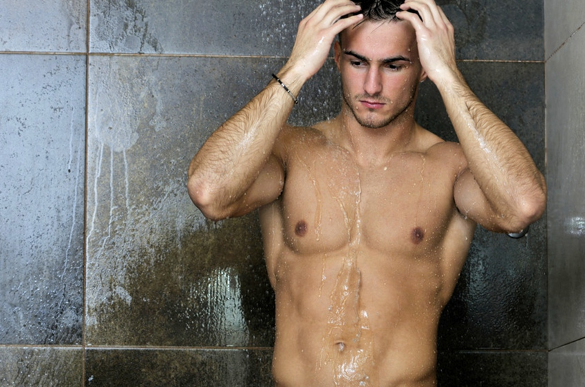 wet whores are taking shower together with the strong man  166374